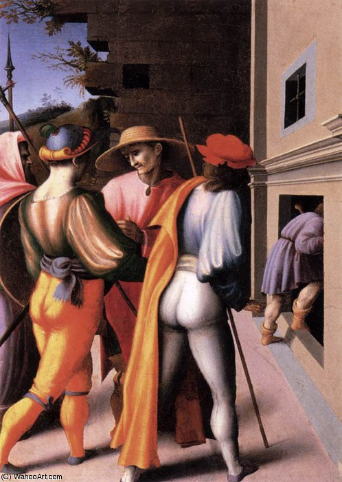Scenes from the Story of Joseph The Arrest of His Brethren by Francesco D'ubertino Verdi (Bacchiacca) (1494-1557, Italy) | Museum Quality Reproductions | ArtsDot.com