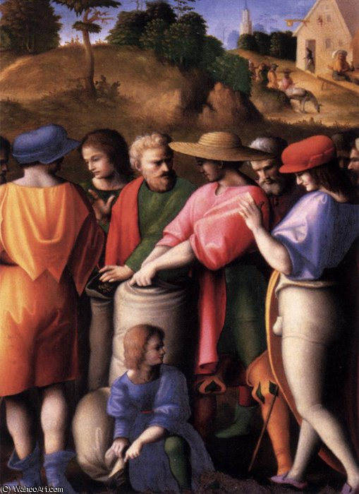 Scenes from the Story of Joseph The Search for the Cup by Francesco D'ubertino Verdi (Bacchiacca) (1494-1557, Italy) | Art Reproduction | ArtsDot.com