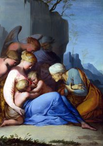 Lubin Baugin - The Holy Family with Saints an..
