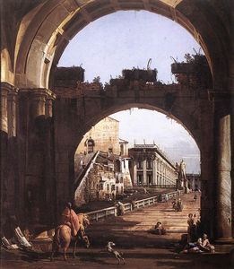 Bernardo Bellotto - Italy - Capriccio of the ..