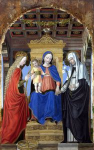Ambrogio Da Fossano (Ambrogio Bergognone) - The Virgin and Child with Saints
