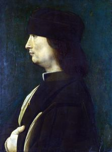 Giovanni Antonio Boltraff.. - A Man in Profile