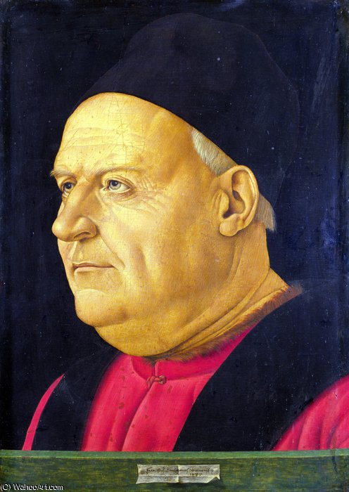Portrait of an Elderly Man by Francesco Bonsignori (1460-1519, Italy)