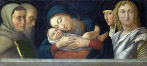 Francesco Bonsignori - The Virgin and Child with Four..