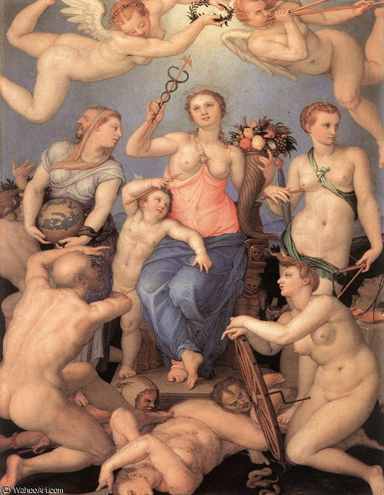 of Happiness by Agnolo Bronzino (1503-1572, Italy) | Art Reproductions Agnolo Bronzino | ArtsDot.com