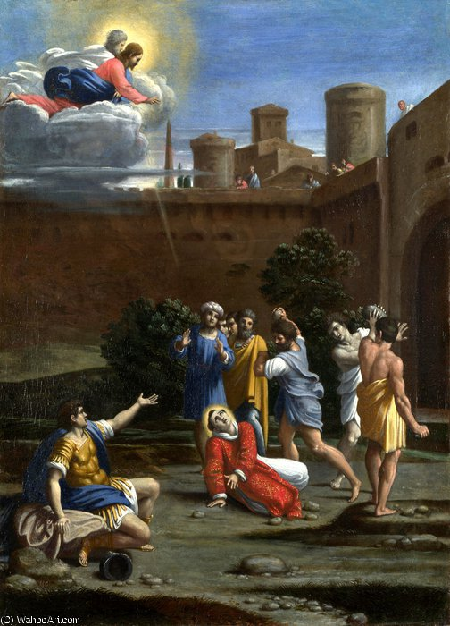 The Martyrdom of Saint Stephen by Antonio Marziale Carracci (1583-1618, Italy)