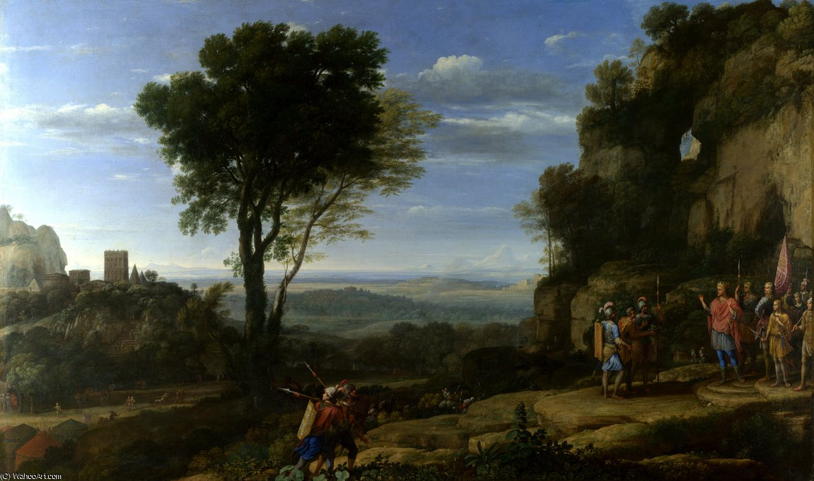 Landscape with David at the Cave of Adullam by Claude Lorrain (Claude Gellée)