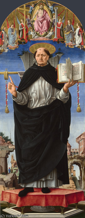 griffoni - St Vincent Ferrer by Francesco Del Cossa (1430-1477, Italy)