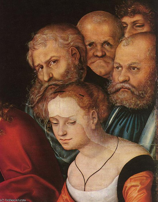 Christ and the Adulteress (detail) by Lucas Cranach The Elder (1472-1553, Germany)