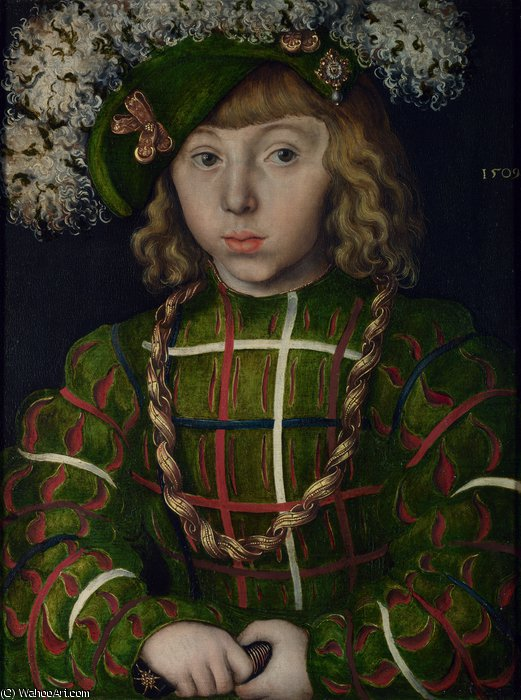 Portrait of Johann Friedrich the Magnanimous by Lucas Cranach The Elder (1472-1553, Germany)