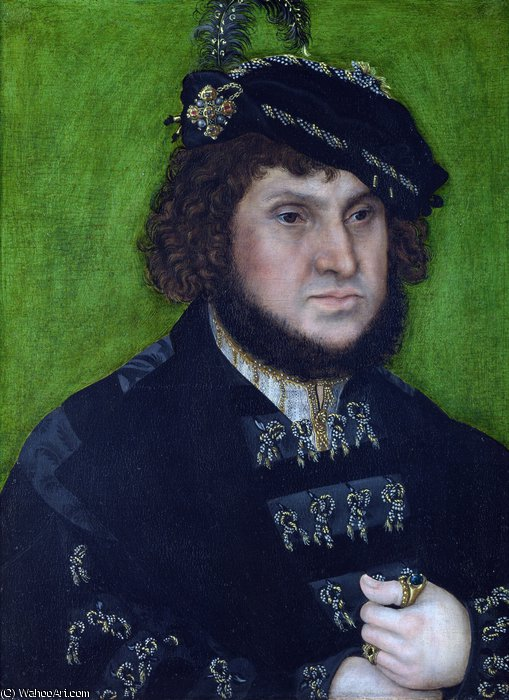 Portrait of Johann the Steadfast by Lucas Cranach The Elder (1472-1553, Germany)