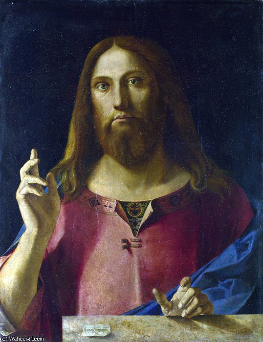 Salvator mundi by Benedetto Diana (1460-1525, Italy)