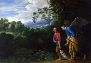 Adam Elsheimer - Tobias and the Archangel Rapha..
