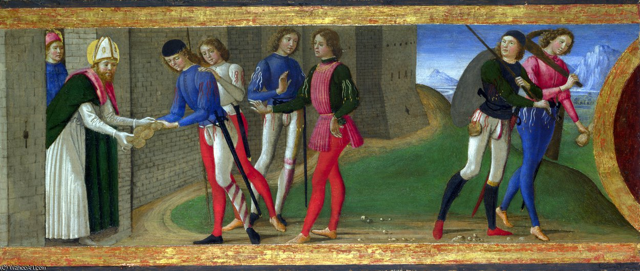 A Legend of Saints Justus and Clement of Volterra by Domenico Ghirlandaio (1449-1494, Italy)