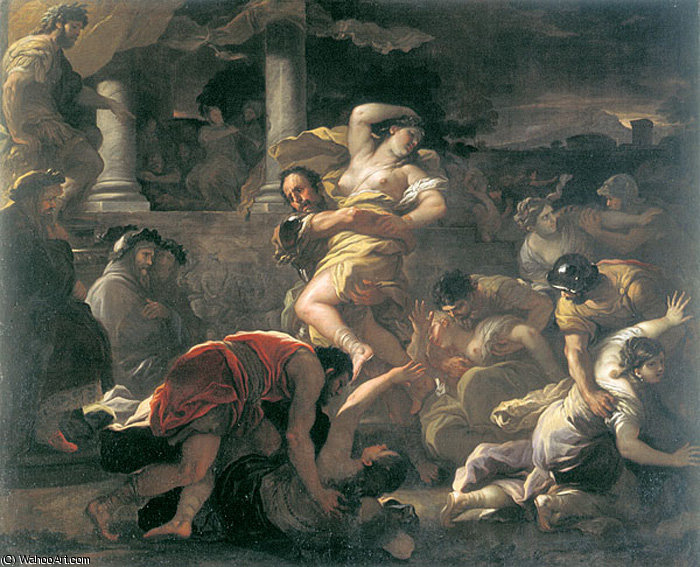 Rape of Sabine by Luca Giordano (1634-1705, Italy)