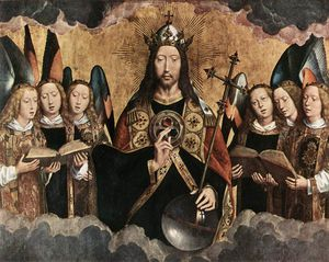 Hans Memling - late - Christ Surrounded ..