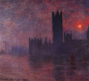 Claude Monet - London Houses of Parliament at Sunset