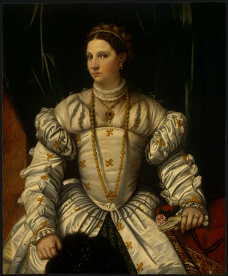 Portrait of a Lady in White by Alessandro Bonvicino (Moretto Da Brescia) (1498-1554, Italy) | ArtsDot.com