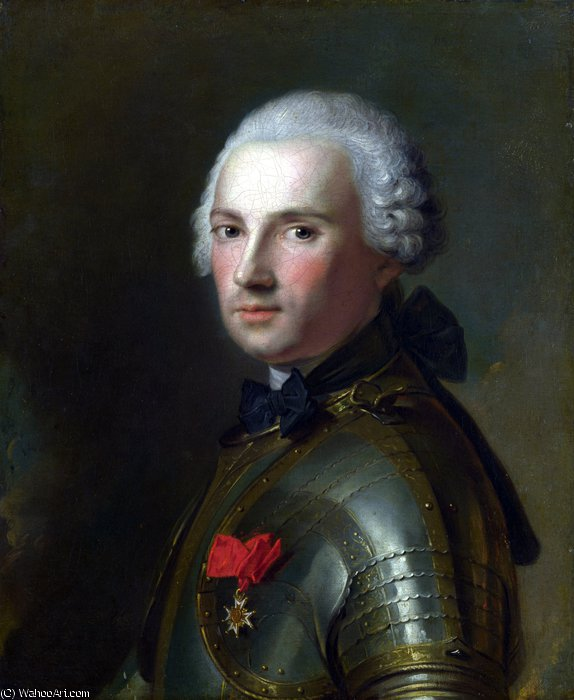 Portrait of a Man in Armour by Jean-Marc Nattier (1685-1766, France) | Paintings Reproductions Jean-Marc Nattier | ArtsDot.com