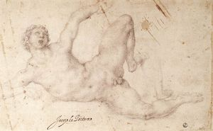 Jacopo Carucci (Pontormo) - Kicking player