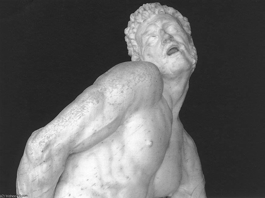 Milo of Croton (detail) by Pierre Puget (1620-1694, France)