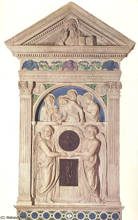 Tabernacle by Luca Della Robbia (1399-1483, Italy)