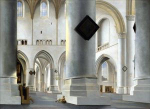Pieter Jansz Saenredam - The Interior of the Grote Kerk at Haarlem