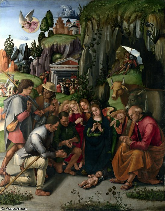 The Adoration of the Shepherds by Luca Signorelli (1450-1523, Italy)