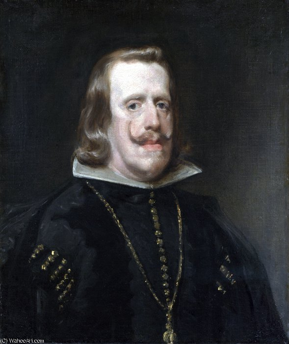 Philip IV of Spain by Diego Velazquez (1599-1660, Spain)