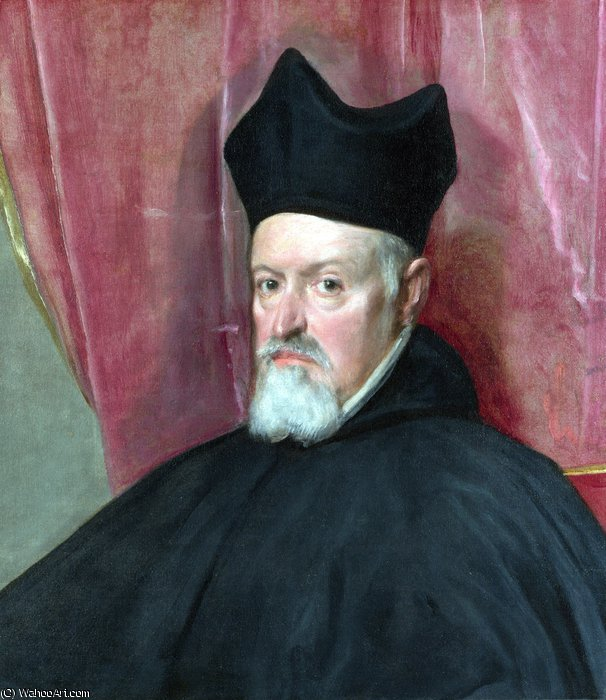 Portrait of Archbishop Fernando de Valdés by Diego Velazquez (1599-1660, Spain)