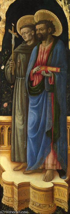 Saints Francis and Mark by Antonio Vivarini (1440-1480, Italy)