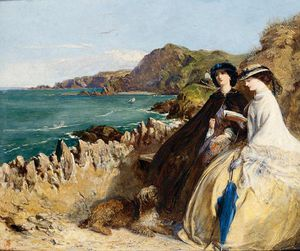 Abraham Solomon - By the Seaside