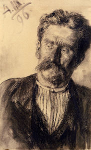 Adolph Menzel - Adolf friedrich head of a man