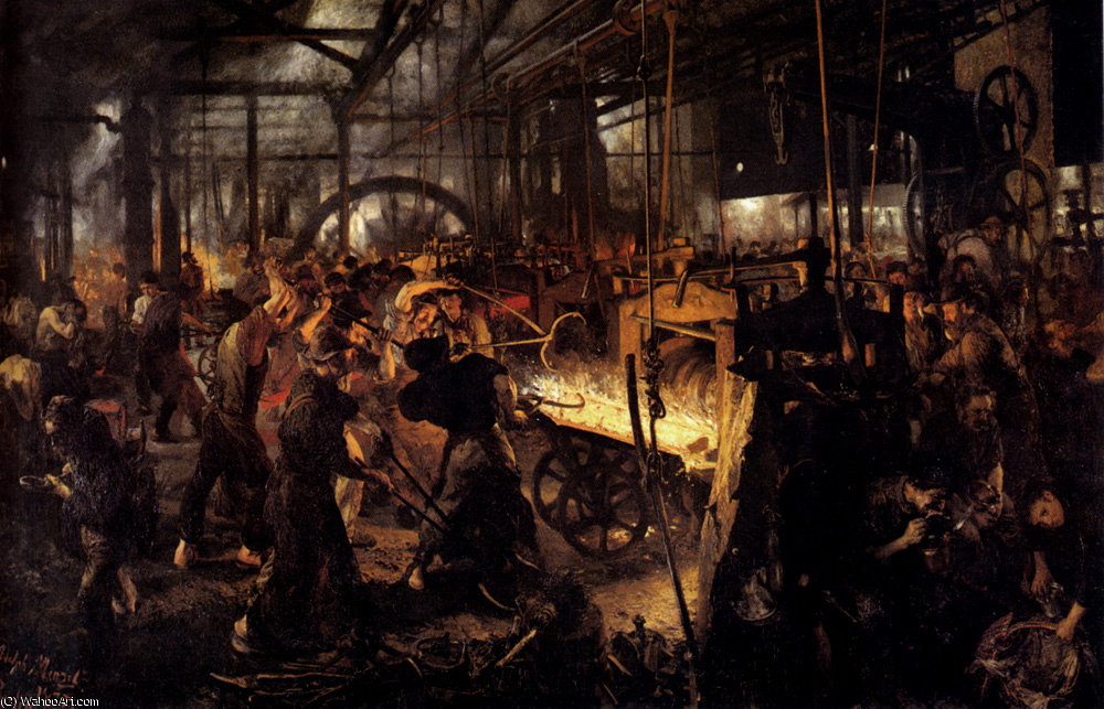 Adolf vaon the foundry by Adolph Menzel (1815-1905, Poland)
