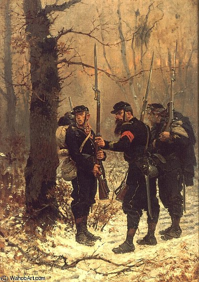 The post of danger by Alphonse Marie Adolphe De Neuville (1836-1885, France)