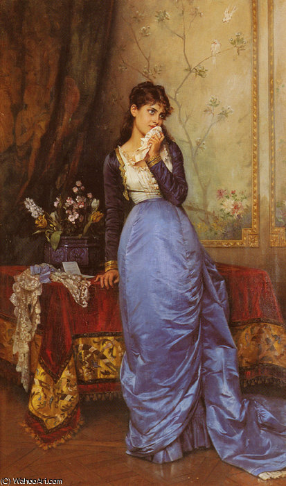 The letter by Auguste Toulmouche (1829-1890, France)