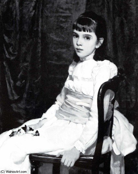 Little girl by Cecilia Beaux (1855-1942, United States) | Museum Art Reproductions | ArtsDot.com