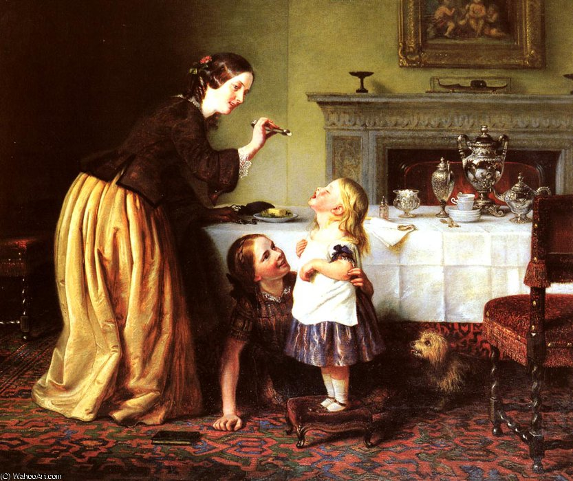 Breakfast time by Charles West Cope (1811-1890, United Kingdom) | Art Reproduction | ArtsDot.com