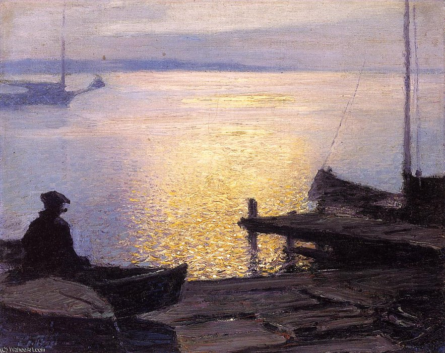 Order Museum Quality Copies | Along the Mystic River by Edward Henry Potthast (1857-1927, United States) | ArtsDot.com