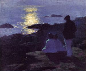 Edward Henry Potthast - a summer-s night