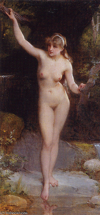 Nd 8 la baigneuse by Emile Munier (1840-1895, France) | Museum Quality Reproductions | ArtsDot.com