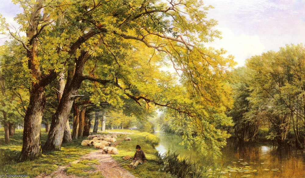 At ockham surrey in summer by Frederick William Hulme (1816-1884, United Kingdom)