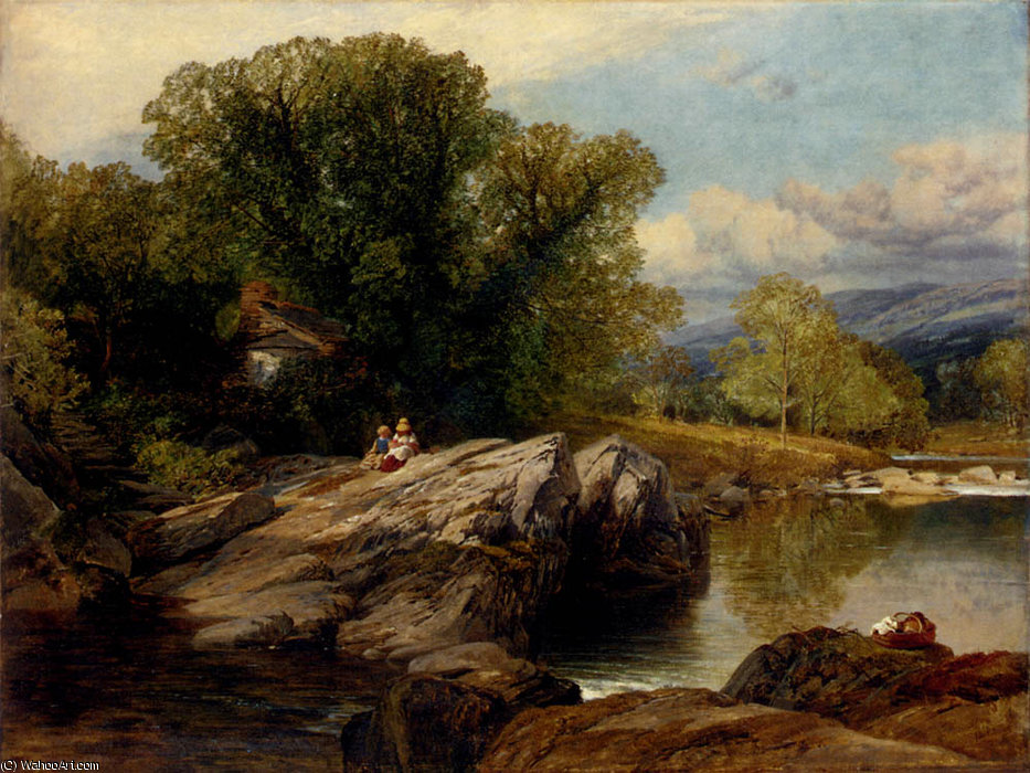 Bettws y Coed by Frederick William Hulme (1816-1884, United Kingdom)