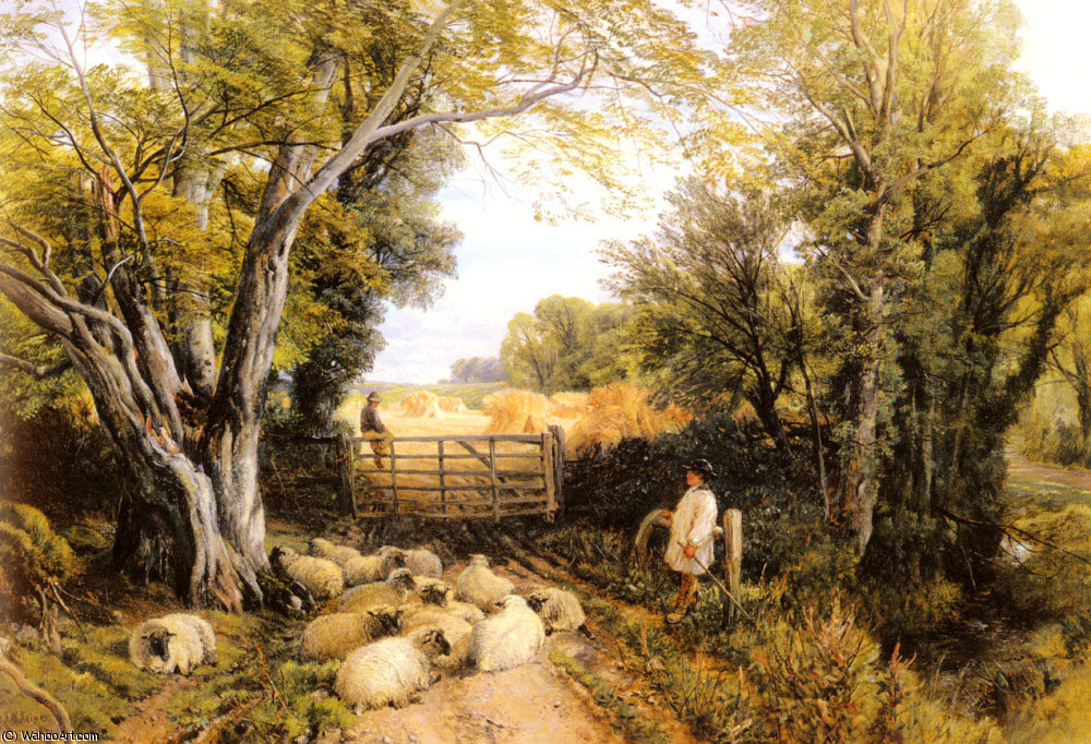 Landscape in wales by Frederick William Hulme (1816-1884, United Kingdom)