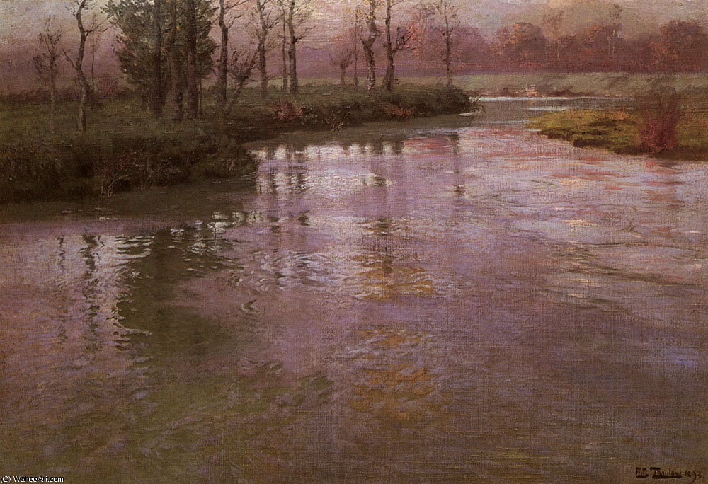 On the french river by Frits Thaulow (1847-1906, Norway) | Painting Copy | ArtsDot.com