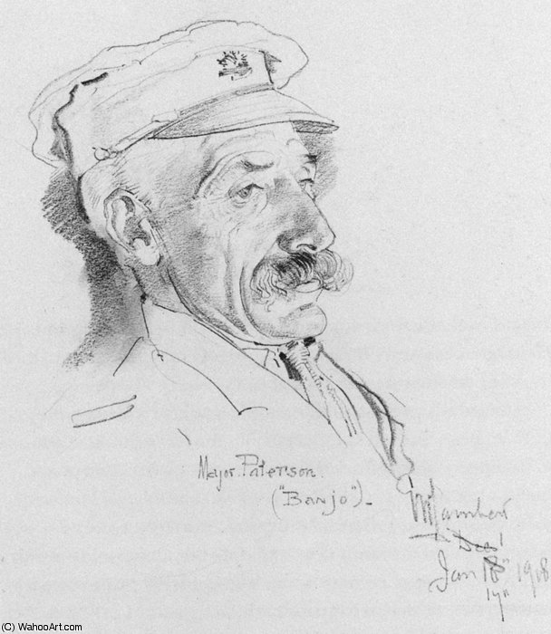 Major Andrew Barton - Banjo - Patterson by George Lambert (1873-1930, Russia)
