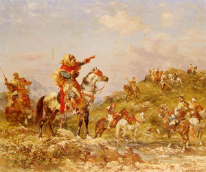 Georges Washington - Arab warriors on horsebac..