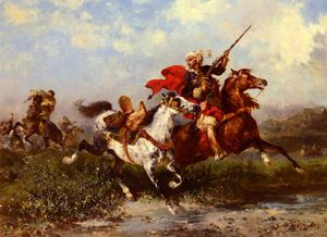 Georges Washington - Combats de cavaliers arab..