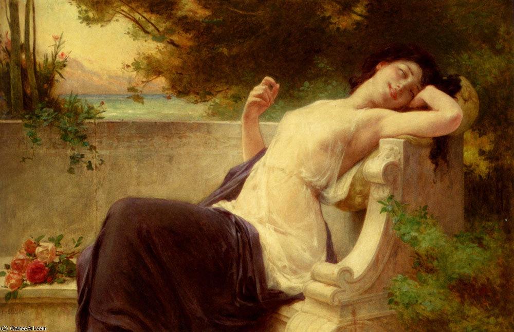 An afternoon rest by Guillaume Seignac (1870-1924, France) | Oil Painting | ArtsDot.com