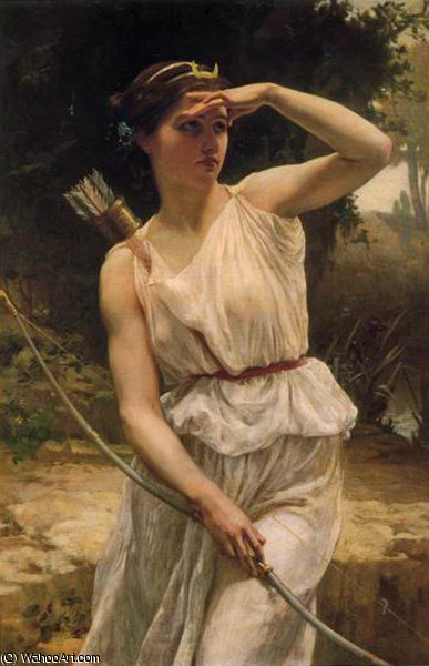 Diana hunting by Guillaume Seignac (1870-1924, France)